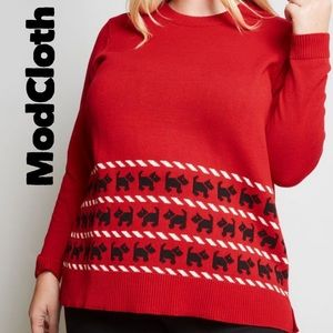 ModCloth Scottie Whimsically Warm Tunic Sweater